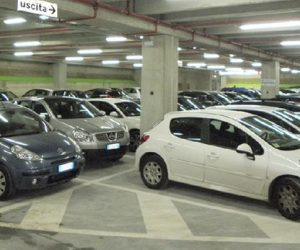 Covered parking at the port of Milazzo, Aeolian Islands