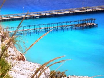 Pier in der Insel Lipari, Äolische Inseln